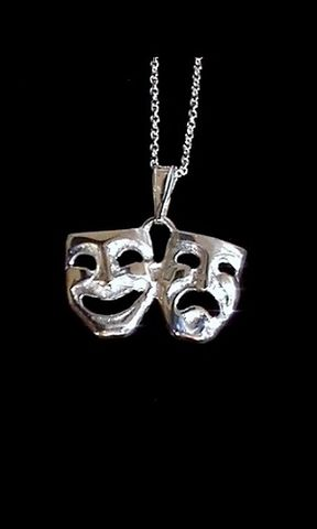 Tragedy/,Comedy,Necklace,drama mask, tragedy Comedy