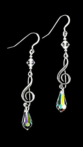 Light,Show,Earrings,light show earrings, long crystal music earrings