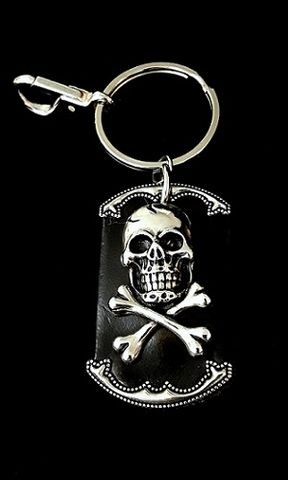 Heavy,Metal,Leather,Keychain,Heavy metal keychain, rock keychain, skull leather keychain