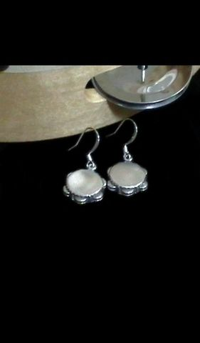 Tambourine,Earrings,tambourine, tambourine earrings, tambourine jewelry