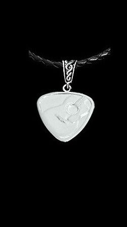 Guitar,Pick,Pendant,sterling guitar pick, silver guitar pick necklace