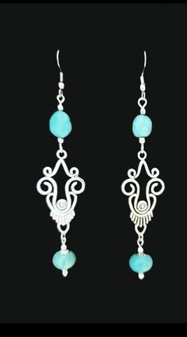 Turquoise,Chandelier,Earrings,ornate earrings, turquoise