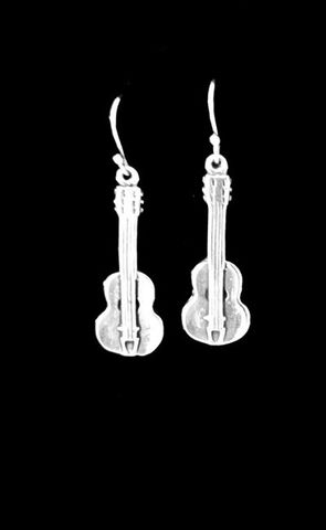 Simple,Guitar,Earrings,Guitar earrings, silver guitar earrings