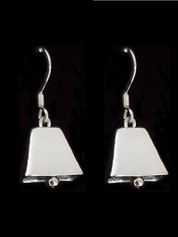 Cowbell,Earrings,cowbell earrings, cowbell necklace, cow bell, jewelry