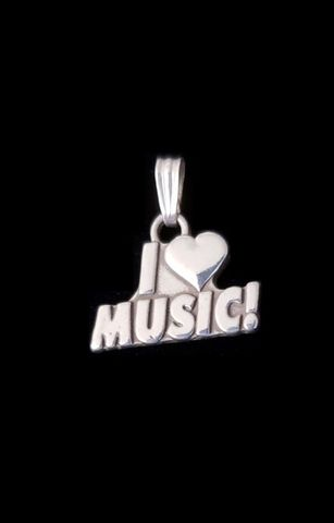 I,Love,Music,Pendant,I love music, I heart music, charm, pendant