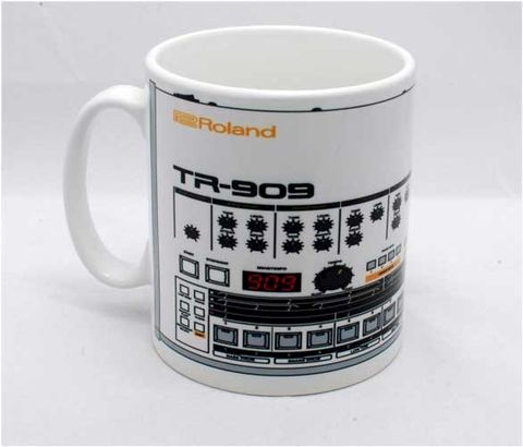Roland,TR909,Mug,roland, tr909, tb303, tr808, bassline, synthesiser, sequencer, acid house, rhythm composer