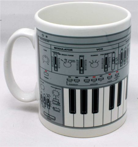 Roland,SH101,Mug,Grey,linndrum, roland, tr909, tb303, tr808, bassline, synthesiser, sequencer, acid house, rhythm composer