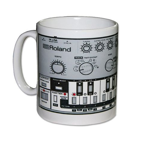 Roland,TB303,Mug,roland, tr909, tb303, tr808, bassline, synthesiser, sequencer, acid house, rhythm composer
