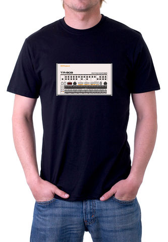 Roland,TR909,T-Shirt,moog, ladder filter,roland,tr909, tb303, tr808, bassline, synthesiser, sequencer, acid house, rhythm composer