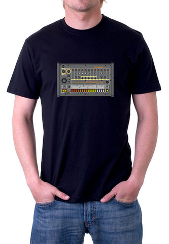 Roland,TR808,T-Shirt,moog, ladder filter,roland,tr909, tb303, tr808, bassline, synthesiser, sequencer, acid house, rhythm composer