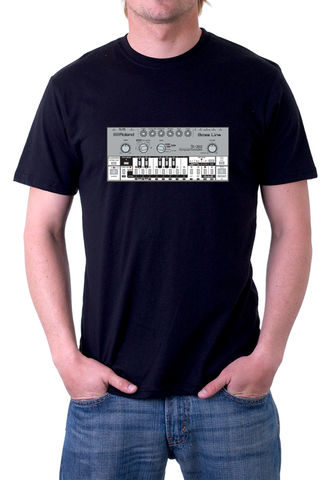 Roland,TB303,T-Shirt,moog, ladder filter,roland,tr909, tb303, tr808, bassline, synthesiser, sequencer, acid house, rhythm composer