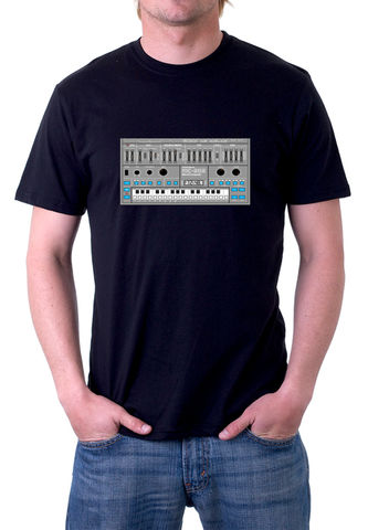 Roland,MC202,T-Shirt,moog, ladder filter,roland,tr909, tb303, tr808, bassline, synthesiser, sequencer, acid house, rhythm composer
