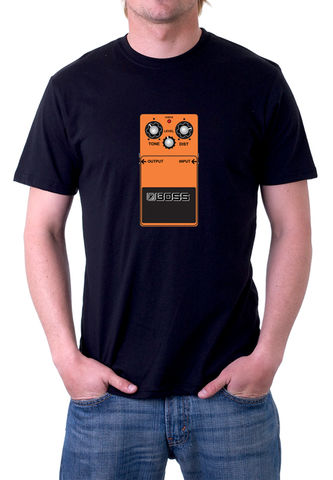 Boss,DS1,T-Shirt,moog, ladder filter,roland,tr909, tb303, tr808, bassline, synthesiser, sequencer, acid house, rhythm composer, juno 60, jupiter8,Boss DS1