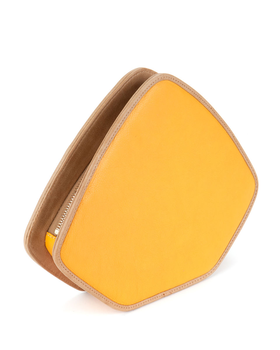 Friday // yellow leather and grey suede - product images  of