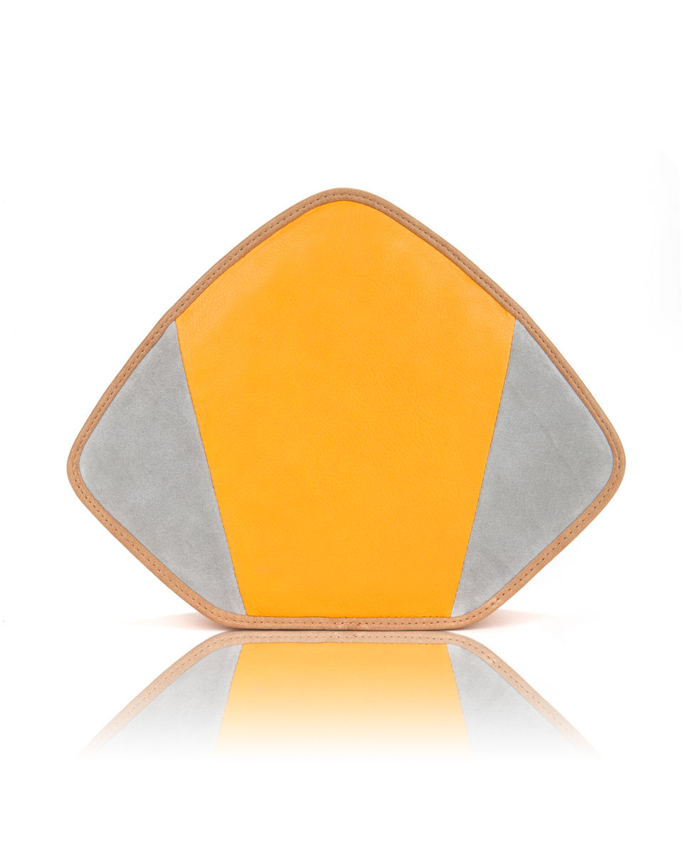 Friday // yellow leather and grey suede - product image