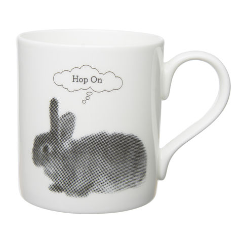 English,Bone,China,Grey,Rabbit,Mug,Grey Rabbit English Bone China Mug