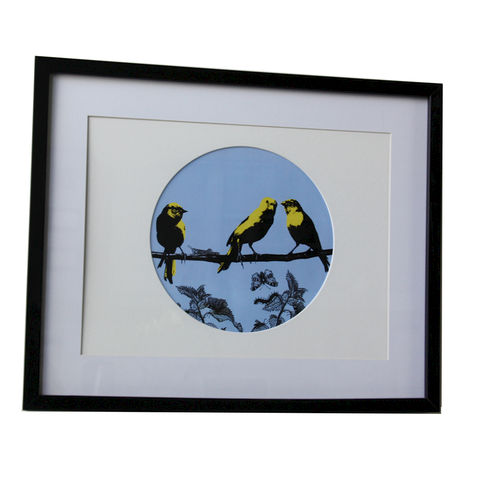 Hot,Gossip,Canary Birds on a Branch Print Sarah Haines