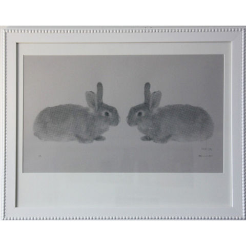 Hop,On,Rabbit,Silk,Screen,Print,Limited edition rabbit silk screen print sarah haines