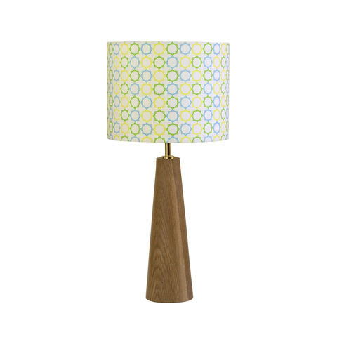 Geometric,Stars,Hand,Made,Oak,Base,&,Lampshade, stars, hand made, lamp, shade, cotton, oak