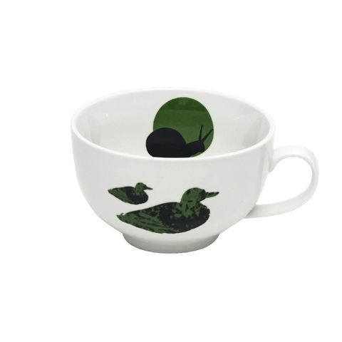 Large,Green,Duck,Tea,Cup,and,Beetle,Saucer, beetle, anton, black, decorated, refired
