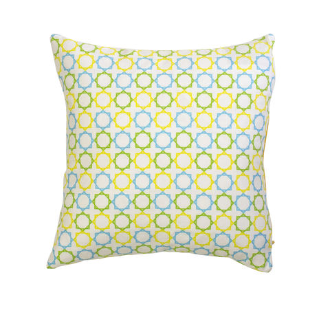 Geometric,Stars,Hand,Made,Cushion, stars, hand made, cotton, cushion, yellow