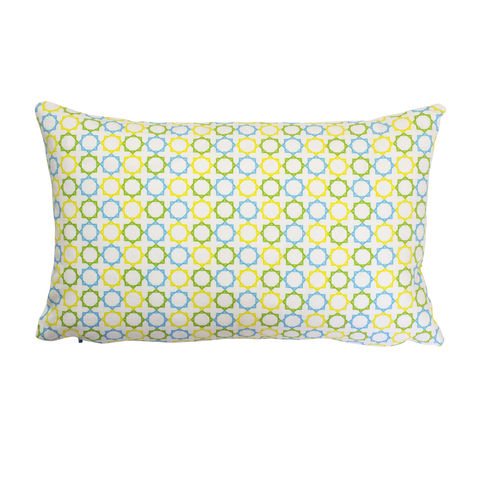 Geometric,Stars,Rectangular,Hand,Made,Cushion, Stars, cushion, white, blue, yellow