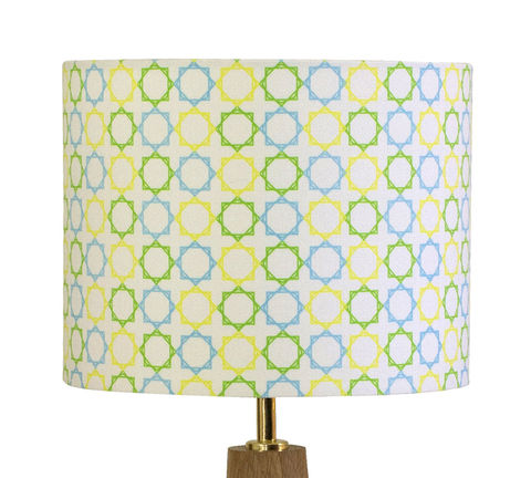 Geometric,Stars,Hand,Made,Lampshade, stars, hand, made, lamp, shade, cotton