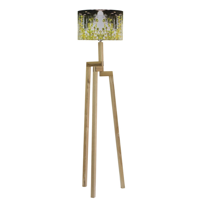 Fern Lamp Shade and Rubberwood Floor Lamp - product images  of