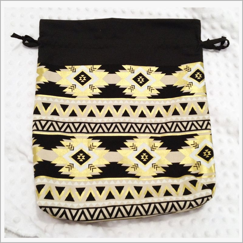 Large Aztec Design Project Bag - product images  of