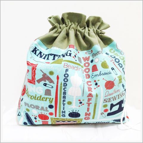 Large,Crafting,Project,Bags,Project Bag, Knitting, Crochet, Sewing, Travel Bag, Accessory Bag, Large Project Bag, Drawstring Bag