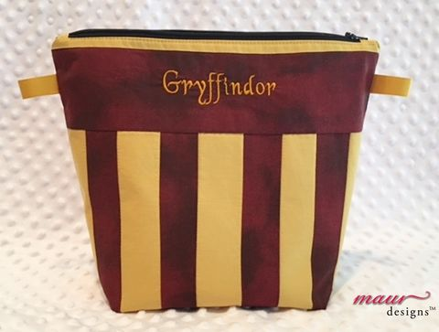 Gryffindor,Harry,Potter,Project,Bag,Harry Potter, Howarts, Project Bags, Knitting Bag, crochet bag,