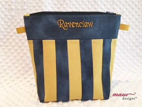 Ravenclaw,-,Harry,Potter,Project,Bag,Harry Potter, Ravenclaw, Howarts, Project Bags, Knitting Bag, crochet bag