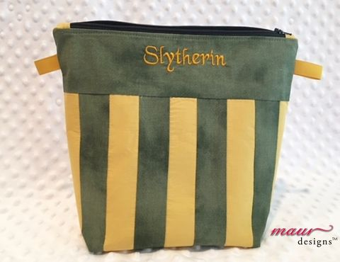 Slytherin,-,Harry,Potter,Project,Bag,Harry Potter, Slytherin, Howarts, Project Bags, Knitting Bag, crochet bag