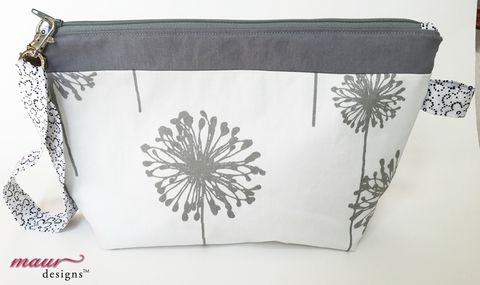 Wishes,not,Dandelions,-,Project,Bag,Dandelion Project Bag, Accessory Bag, Project Bag, Knitting, Crochet