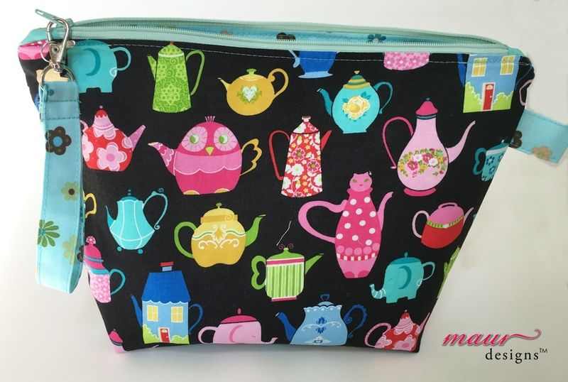 Funky Tea and Coffee Pots Project Bag - product images  of