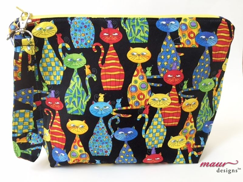 Funky Kitty and Mouse Friends Project Bag - product images  of