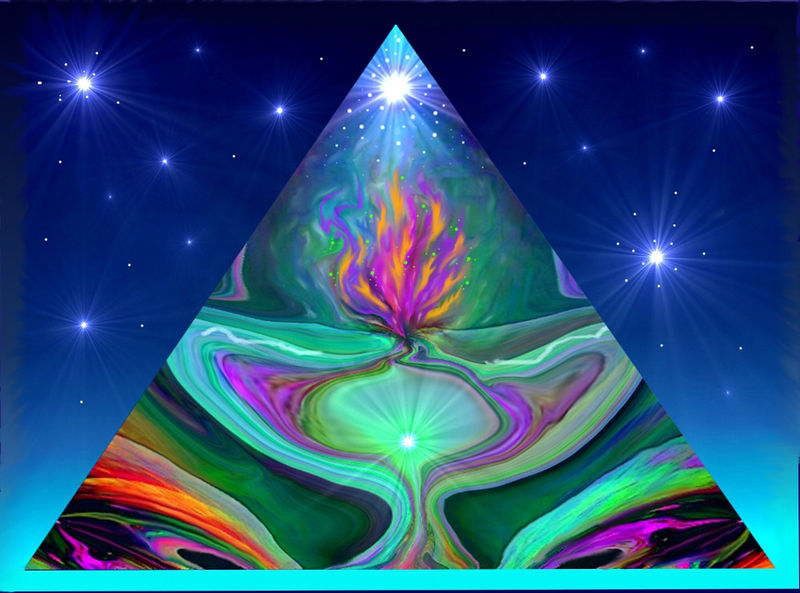 Energy Art, Pyramid Violet Flame, Abstract Art, Reiki Print
