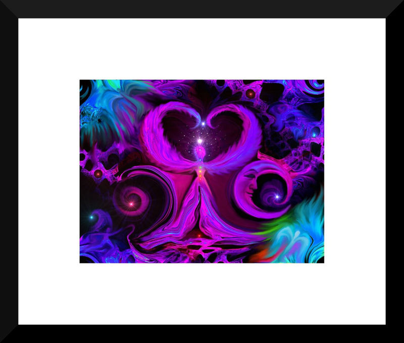 "Purple Chakra, Angel Art, Reiki Energy, Wall Decor ""Angel Way"" - product images  of"