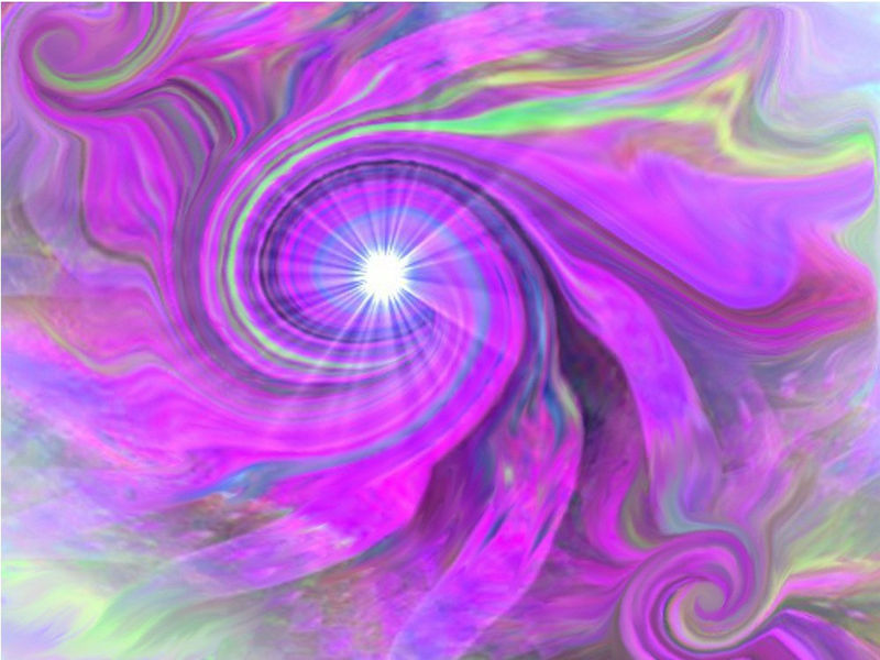"Third Eye Chakra, Violet Swirl, Energy Art ""Intuition"" - product images  of"