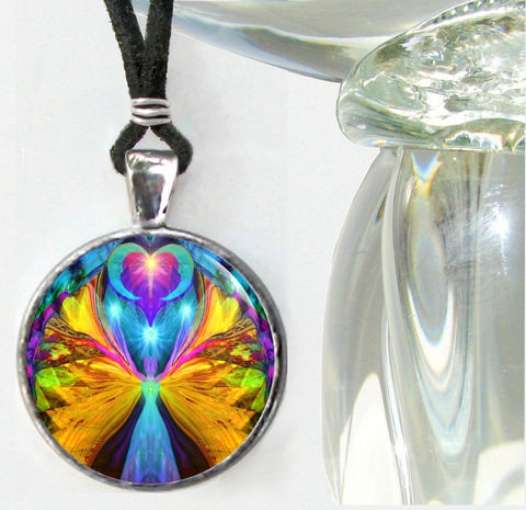 Colorful,Necklace,,Handmade,Angel,Pendant,,Psychedelic,Jewelry,Vision,Quest, chakras, hippie, boho, bohemian, festival, chic, new age, psychedelic, metaphysical, blue, purple, teal, abstract, necklace, pendant, pendant necklace, reiki, healing, energy, spiritual, jewelry, meditation, angel, yoga, alternative healing, vis