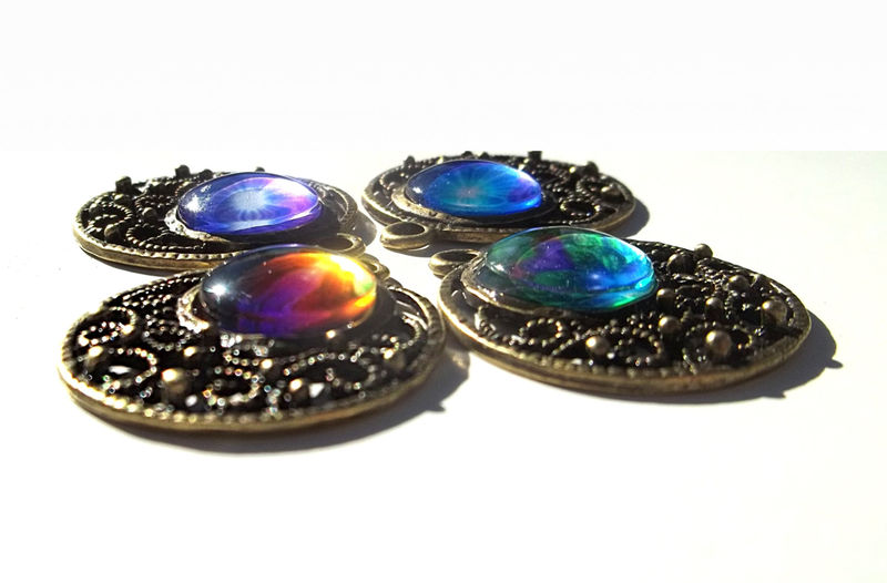 "Unique Jewelry Wearable Rainbow Art Boho Earrings  ""Chakra Alignment"" - product images  of"