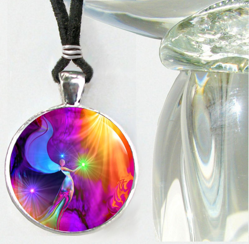 "Reiki Necklace, Angel Pendant, Rainbow Chakra Jewelry ""The Gift"" - product images  of"