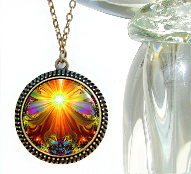 "Chakra Jewelry, Reiki Healing Necklace, Unique Jewelry ""Light Being"" - product images  of"