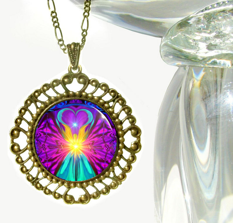 "Rainbow Reiki Jewelry, Angel Necklace, Chakra Healing ""The Beacon"" - product images  of"