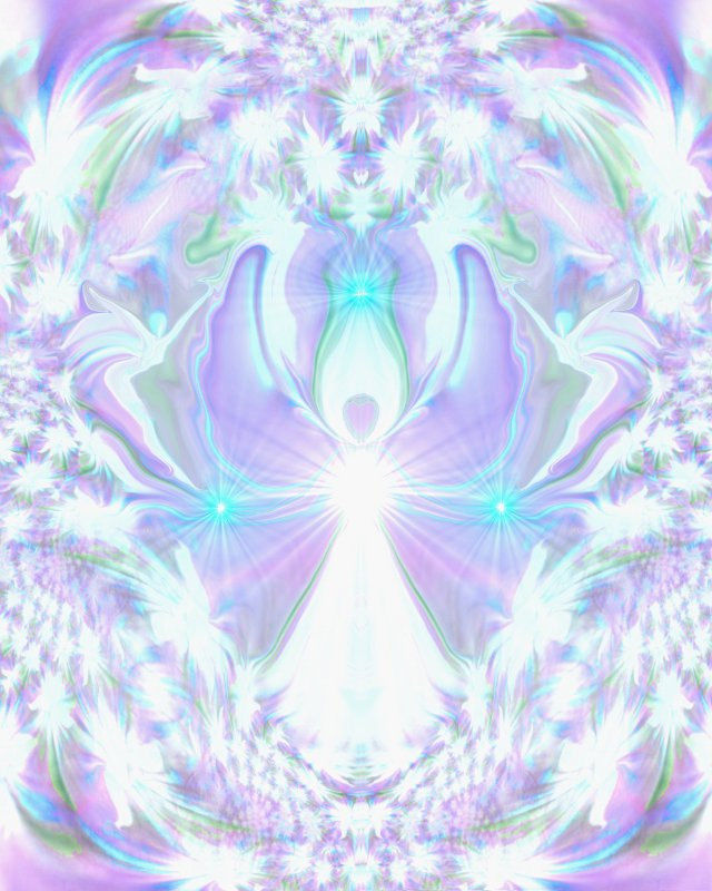Crown Chakra Art, Angel Wall Decor, Reiki Healing Energy