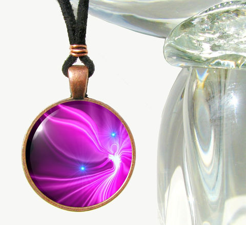 Bright,Necklace,,Pink,Angel,Pendant,,Reiki,Jewelry,Acceptance,pink, fuchsia, abrtract, necklace, pendant, pendant necklace, reiki, healing, energy, spiritual, jewelry, meditation, chakras, angel, yoga,