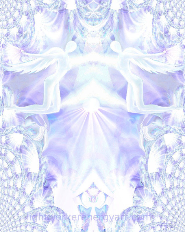 Crown Chakra Print, Angel Art, Reiki Wall Decor, Healing Energy