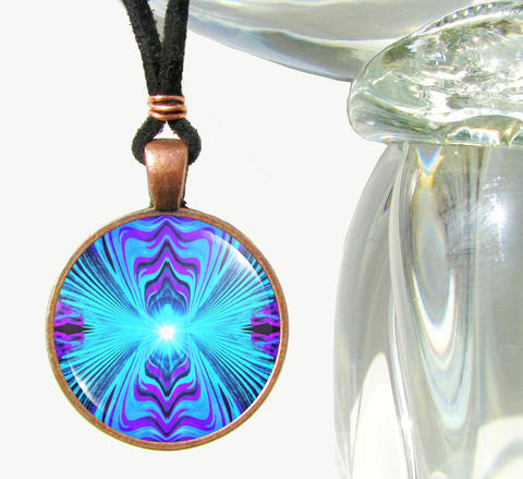 Blue,Teal,Purple,Necklace,,Throat,Chakra,Pendant,,Healing,Jewelry,Intuitive,Truth, art jewelry, blue necklace, purple pendant, energy healing, reiki, chakras, pendant necklace, handmade, fantasy, healing, energy, spiritual, jewelry, hippie, boho, bohemian, festival, chic, new age, psychedelic, metaphysical, abstract, meditation, chakra