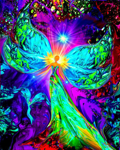 Chakra,Art,,Pschedelic,Angel,Print,,Reiki,Healing,Energy,Art,Vitality,violet flame healing, violet flame, chakra art, reiki art, visionary art, rainbow art, angel art, digital art, psychedelic art, yoga room, meditation, spiritual art, wall decor, wall art, wall hanging, art print, healing art, reiki healing, energy healing