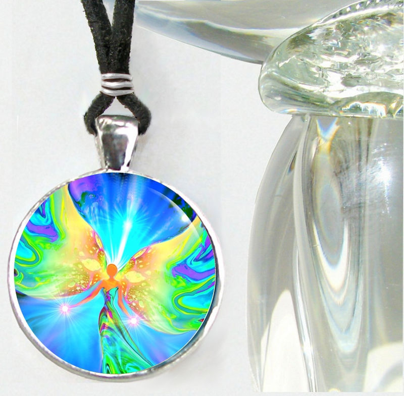 "Pastel Angel Jewelry, Reiki Healing Pendant Necklace ""Ease"" - product images  of"